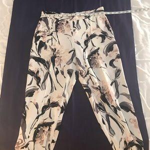 Zara - Floral print slacks- size M